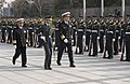 US Navy 060116-N-9851B-006 A member of Japan's Ground Self Defense Force Special Honor Guard escorts the United States Chief of Naval Operations, Adm. Mike Mullen, and Japan Maritime Self-Defense Force Chief of Staff, Adm. Take.jpg