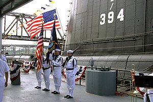 North Little Rock, Arkansas - US Navy ceremony at the Arkansas Inland Maritime Museum