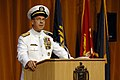 US Navy 070608-N-3642E-050 Chief of Naval Operations (CNO) Adm. Mike Mullen, speaks about the selfless service of Vice Adm. Rodney P. Rempt at the U.S. Naval Academy change of command.jpg