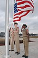 US Navy 090401-N-0958B-001 Chiefs hoist the American flag on the 116th anniversary of the chief petty officer rank.jpg