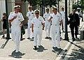 US Navy 090813-N-1655H-097 dm. James Stavridis, center, commander of U.S. European Command, walks with Adm. Mark Fitzgerald Vice Adm. Bruce Clingan.jpg
