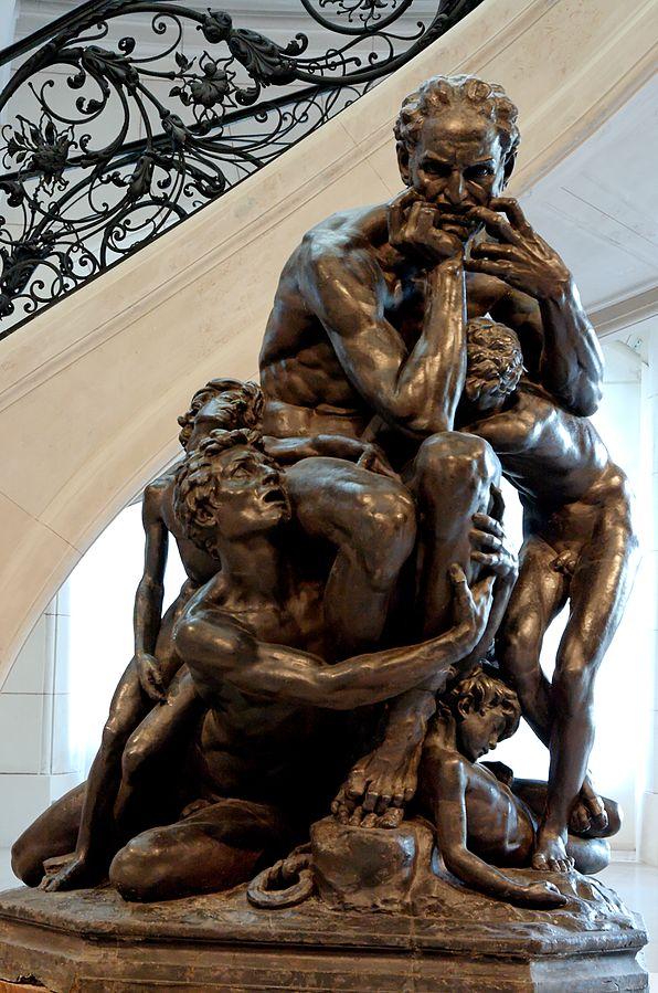 Ugolin entouré de ses quatre enfants