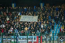 Ultras della Giana Erminio durante una partita casalinga.