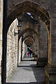 Under buttresses, Winchester Cathedral.JPG