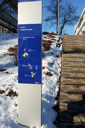 University of Siegen - Campus sign post