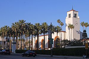 Union Station (Los Angeles) - Main building and gardens