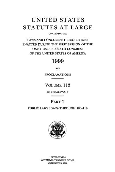 File:United States Statutes at Large Volume 113 Part 2.djvu