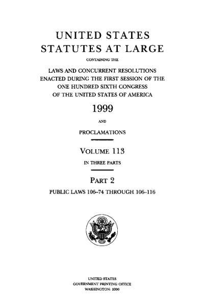 File:United States Statutes at Large Volume 113 Part 2.djvu