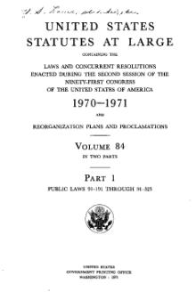 United States Statutes at Large Volume 84 Part 1.djvu