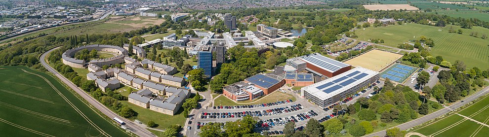 Aerial view of Colchester Campus
