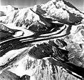Unknown glacier, valley glacier with prominant moraines, September 3, 1970 (GLACIERS 5131).jpg