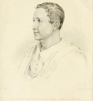 Thomas Uwins - Portrait of Sir William Gell (1832 engraving)