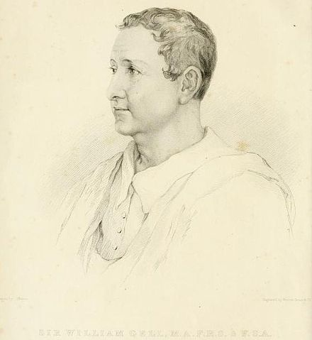 Portrait of Sir William Gell (1832 engraving) Uwins - Sir William Gell.jpg