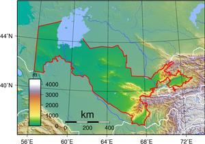 Geography of Uzbekistan - Topography of Uzbekistan