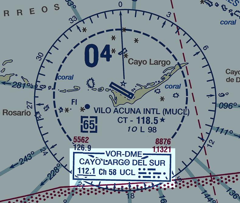 VFR Chart Cayo Largo Del Sur VOR-DME
