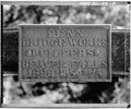 VIEW OF BRIDGE PLATE - Bear Creek Bridge, Spanning Bear Creek on St. Killian Road, Sextonville, Richland County, WI HAER WIS,52-BUVI,1-4.tif