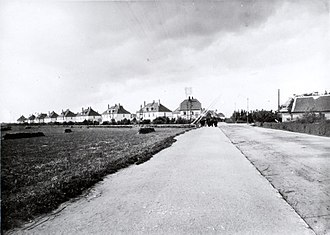 White Houses, Valby - The White Houses viewed from Valby Langgade