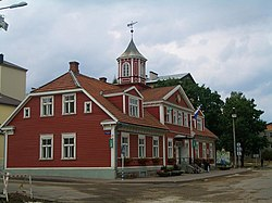 Valga town hall, built in 1865.