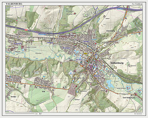 Valkenburg aan de Geul - Topographic map of Valkenburg, as of March 2014
