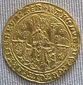 Valois, carlo vi, doppio d'oro con corona, 1380-1422.JPG