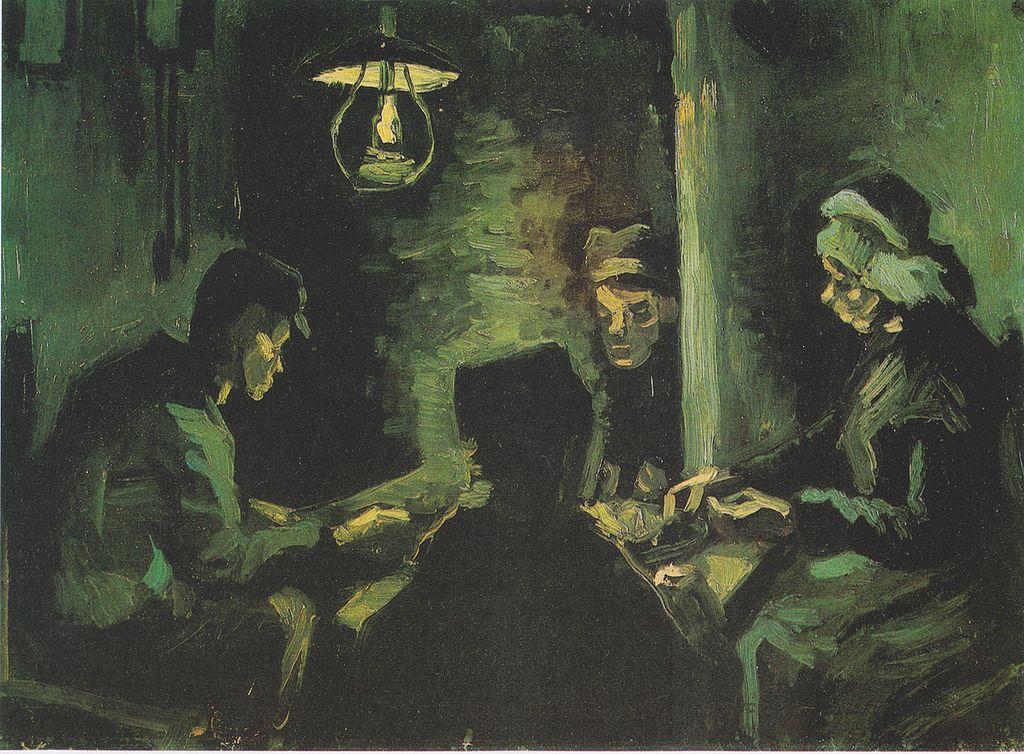 """Van Gogh - Vier Bauern beim Essen (Erste Studie zu den """"Karoffelessern"""")"""