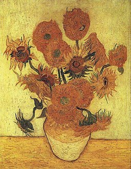 Van Gogh Vase with Fifteen Sunflowers