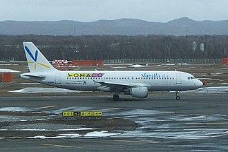 Vanilla Air - A Vanilla Air Airbus A320 taxiing at New Chitose Airport, Japan. (2014)