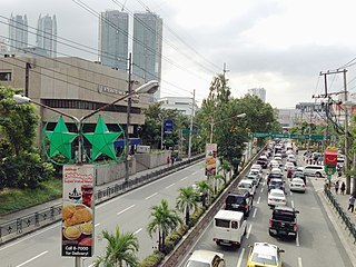 Julia Vargas Avenue road in the Philippines