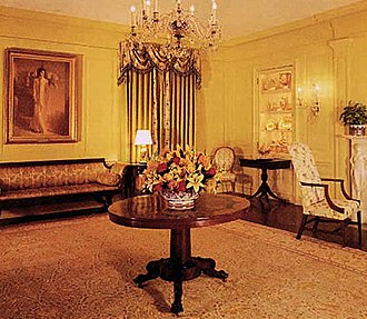 Vermeil Room - The Vermeil Room as decorated during the administration of Bill Clinton.