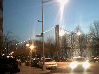 NIght lights of Verrazano Bridge, and around