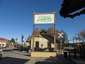Sparks, Nevada - Victorian Square in November 2011