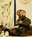 Vienna 1975 Fritz Novotny clay sculpture by his son Ornette aged ~7.jpg