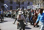 Vietnam War protest in Washington DC April 1971