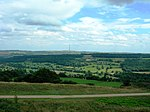 View East From Castle Hill Towards The Village Of Kirkburton And Emley Moor TV Mast