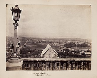 Nashville, Tennessee - View from the Tennessee State Capitol ca. 1865