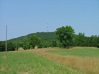 Alcovy Mountain - View of Alcovy from the eastern, less prominent face