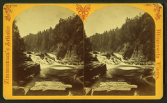 View of a waterfall, by Zimmerman, Charles A., 1844-1909.png