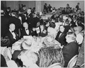 View of table at the dinner honoring President Truman and Vice President Barkley at the Mayflower Hotel in... - NARA - 200007.tif