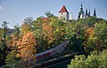 View of the Castle through a forest, Prague - 9482.jpg