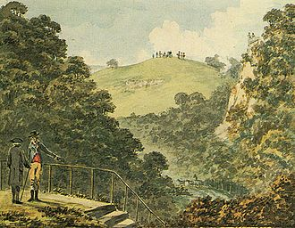 "Blaise Castle Estate - Sir Humphrey Repton: ""View of the approach, from the Red Book for Blaise Castle"" (1796)"