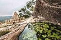 Vijayalayacholisvaram with Natural pond.jpg