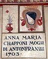 Villa pecori giraldi, sala degli stemmi di pietro alessio chini e dei suoi figli e nipoti, stemma capponi.jpg