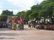 Traditional dance being performed in the centre of Villa Vieja