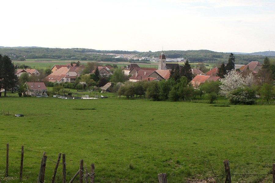 Vue de Villers-sous-Montrond (Doubs).
