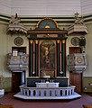 Vimpeli Church altar and pulpit 20180716.jpg