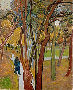 Vincent van Gogh - The garden of Saint Paul's Hospital (`The fall of the leaves') - Google Art Project