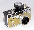 Vintage Argus C3 Matchmatic 35mm Rangefinder Camera, With Attached Argus LC-3 Light Meter, Camera Known As The Brick, Light Meter Made In Japan, Camera Made In USA, Produced From 1958 To 1966 (32147527291).jpg