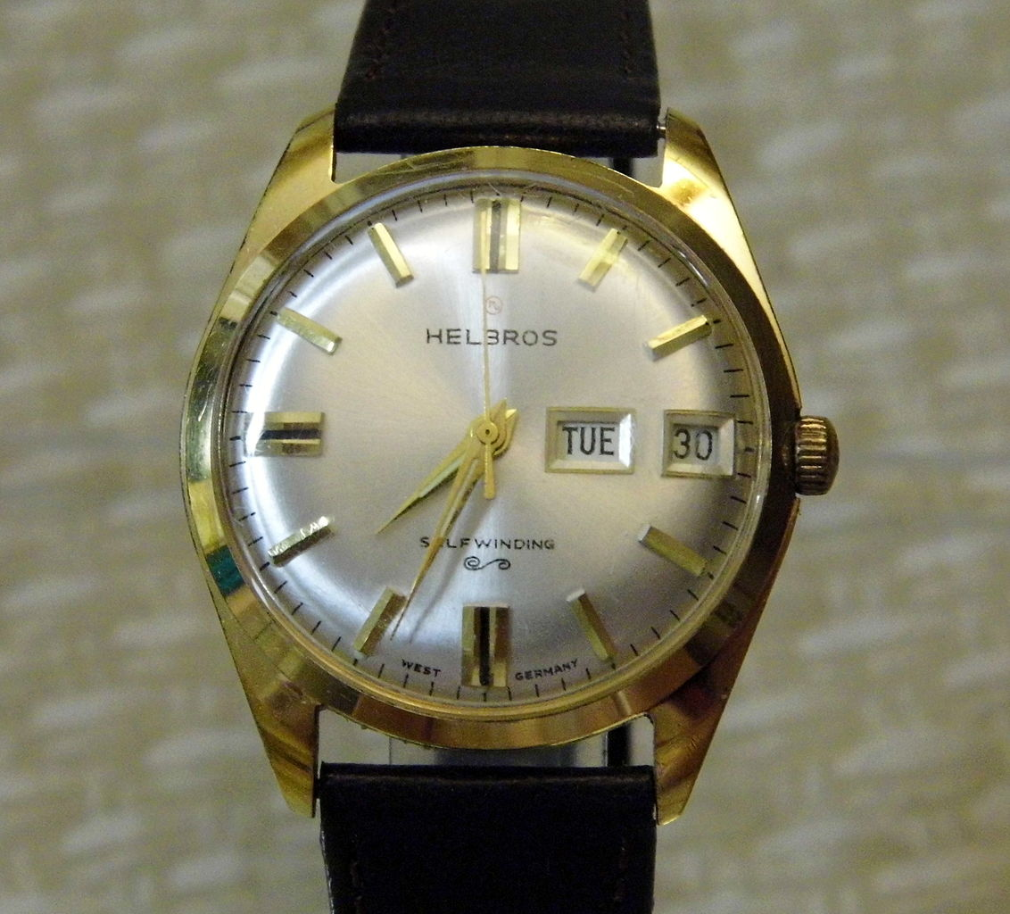 Px Vintage Helbros Automatic Self Winding Watch C Made In West Germany