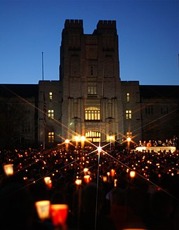 Virginia Tech massacre candlelight vigil Burruss