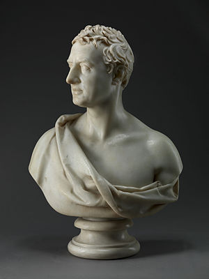 Robert Stewart, Viscount Castlereagh - Marble bust of Castlereagh by Joseph Nollekens, 1821. Yale Center for British Art